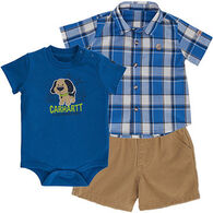 Carhartt Infant/Toddler Boys' Carhartt Dog Short Gift Set, 3pc