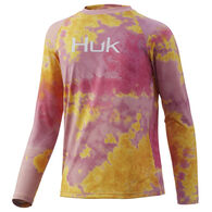 Huk Youth Tie-Dye Pursuit Long-Sleeve Shirt