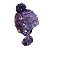 Turtle Fur Girls' Dew Drop Earflap Pom Hat