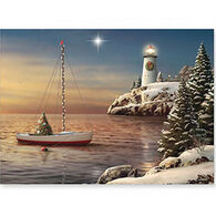Cape Shore Night Has Come Boxed Christmas Cards