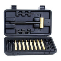 ProMag Brass Hammer & 14-Piece Punch Set w/ Fitted Polymer Box