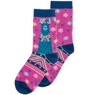 Karma Women's Llama Crew Sock