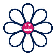Life is Good Simple Daisy Small Die Cut Decal