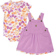 Carhartt Infant/Toddler Girls' French Terry Jumper Set, 2pc