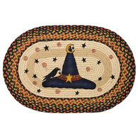 Capitol Earth Witch Hat Oval Patch Braided Rug