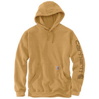 Carhartt Men's Midweight Hooded Logo-Sleeve Sweatshirt