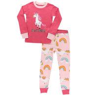 Lazy One Toddler Girl's Magical Unicorn Long-Sleeve Pajama Set, 2-Piece