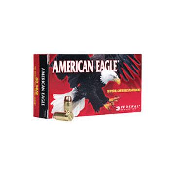 American Eagle 9mm Luger (9x19mm Parabellum) 124 Grain FMJ Handgun Ammo (50)