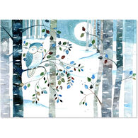 Peter Pauper Press Owl in Moonlight w/Keepsake Box Deluxe Holiday Cards