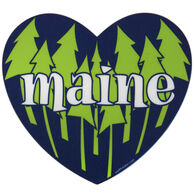 Blue 84 Pines Heart Shaped Maine Sticker