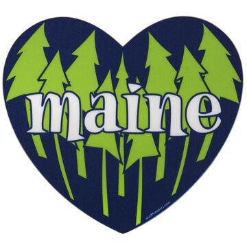 Blue 84 Pines Heart Shaped Maine Sticker
