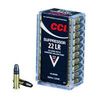 CCI Suppressor 22 LR 45 Grain Subsonic HP Rimfire Ammo (50)