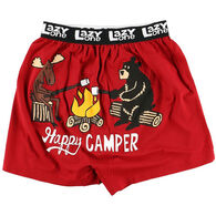 Lazy One Men's Happy Camper Comical Boxer Short