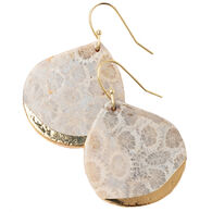 Scout Curated Wears Women's Stone Dipped Teardrop Earring - Fossil Coral/Gold