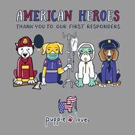 Puppie Love Women's American Heroes Short-Sleeve T-Shirt