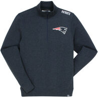 47 Brand Men's New England Patriots Head 1/4-Zip Sweatshirt