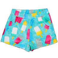 Candy Pink Girls' Popsicle Fleece Pajama Short