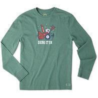 Life is Good Men's Bring It On Snowblower Long-Sleeve Crusher T-Shirt