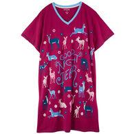 Hatley Little Blue House Women's Good Night Deer Sleep Shirt