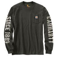 Carhartt Men's Big & Tall Double Sleeve Graphic Long-Sleeve Pocket T-Shirt