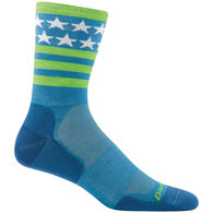 Darn Tough Vermont Men's Stars/Stripes Micro Crew Ultra-Light Cushion Sock - Special Purchase