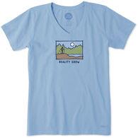 Life is Good Women's Reality Show Crusher Vee Short-Sleeve T-Shirt