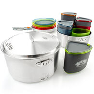 GSI Outdoors Glacier Stainless Camper Integrated Cooking & Eating Set