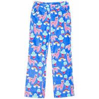 Candy Pink Girl's Llama Pajama Pant