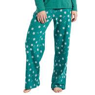 Life is Good Women's Snowflakes Jersey Sleep Pant