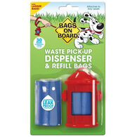 Bags On Board Fire Hydrant Dog Waste Pick-Up Dispenser & Refill Bags