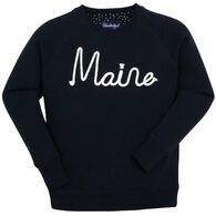 Vacationland Wear Women's Maine Rope Crewneck Sweatshirt