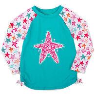 Hatley Girl's Starfish Long-Sleeve Rashguard