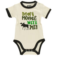 Lazy One Infant Boy's Don't Moose With Me Creeper Onsie