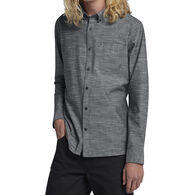 Hurley Men's One And Only Button Up Long-Sleeve Shirt