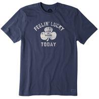 Life is Good Men's Feelin' Lucky Today Crusher Short-Sleeve Sleep T-Shirt