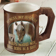 Wild Wings My Business Horse Sculpted Mug