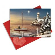 Cape Shore Night Has Come Embellished Boxed Christmas Cards