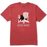 Life is Good Men's Dog Days Beer Crusher Short-Sleeve T-Shirt