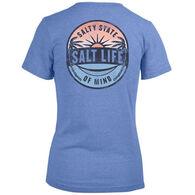 Salt Life Women's Picturesque Palms Tri-blend V-Neck Short-Sleeve T-Shirt