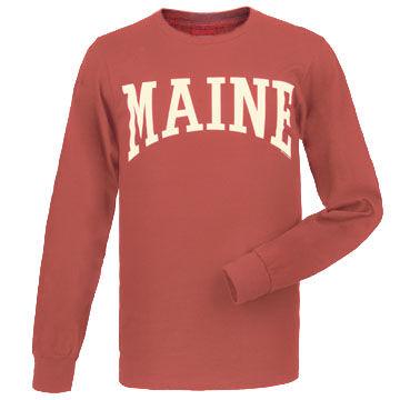 Cape Cod Textile Mens Maine Arch Design Long-Sleeve T-Shirt