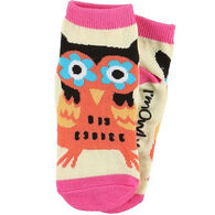 Lazy One Girls' Owl Yours Sock