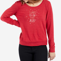 Life is Good Women's Love Is In The Air Supreme Scoop Pullover Long-Sleeve Top