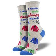Socksmith Design Women's Mr. Rogers Snappy Dresser Crew Sock