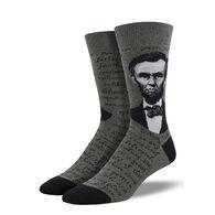 Socksmith Design Men's Lincoln Portrait Crew Sock