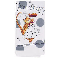 Kay Dee Designs Happy Cat Flour Sack Towel
