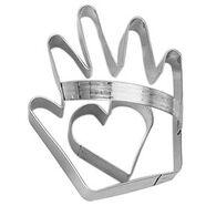 Ann Clark Tin Cookie Cutter - Heart and Hand