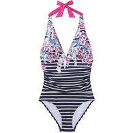 7507d86dfe4 Joules Women's Oceanne Halter Top Swimsuit