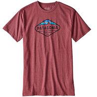 Patagonia Men's Fitz Roy Crest Cotton/Poly Short-Sleeve T-Shirt