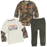 Carhartt Infant Boy's Camo Long-Sleeve Shirt 3-Piece Set