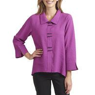 Habitat Women's Solid Color Piano Button Long-Sleeve Shirt
